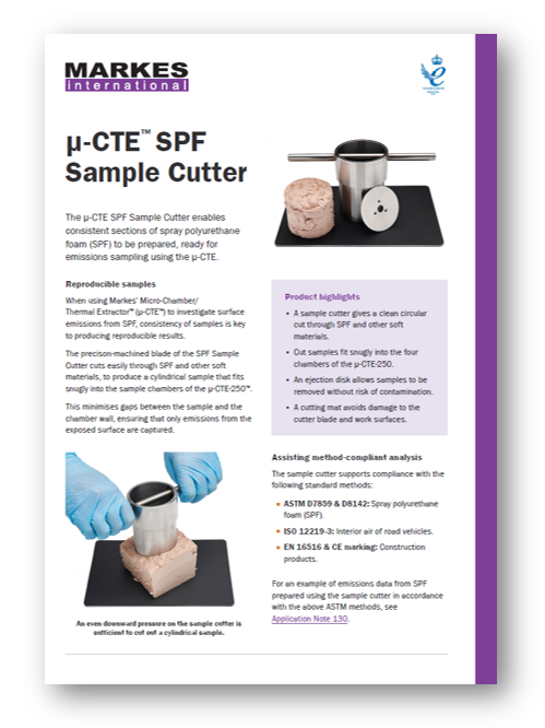 SPF Sample Cutter