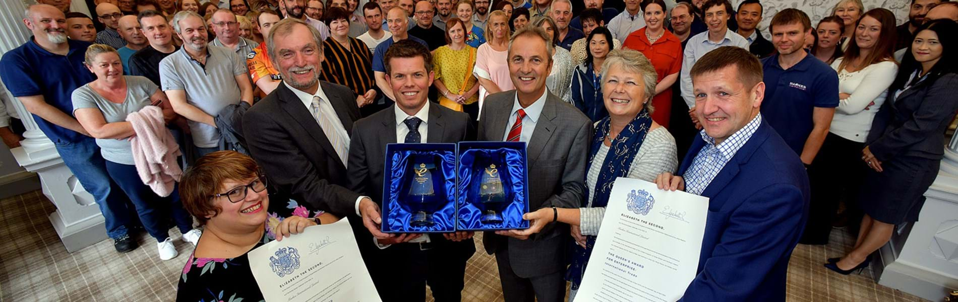 Lord Lieutenant presents two Queen's Awards to Markes International Ltd